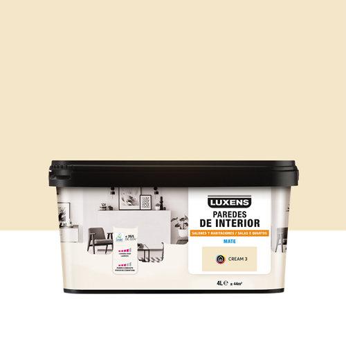 Pintura salones y habitaciones luxens 4l cream 3