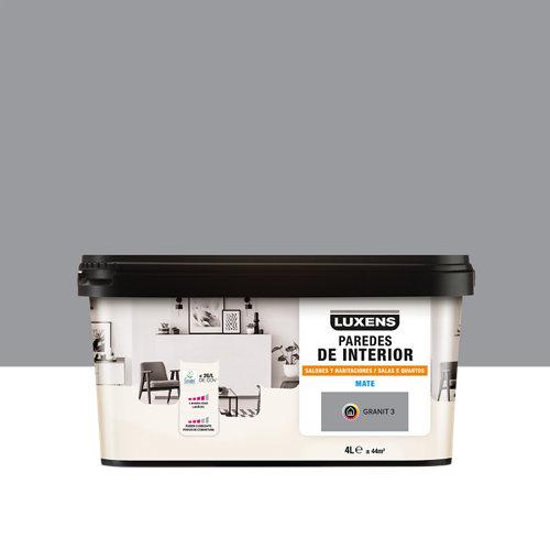 Pintura salones y habitaciones luxens 4l granit 3