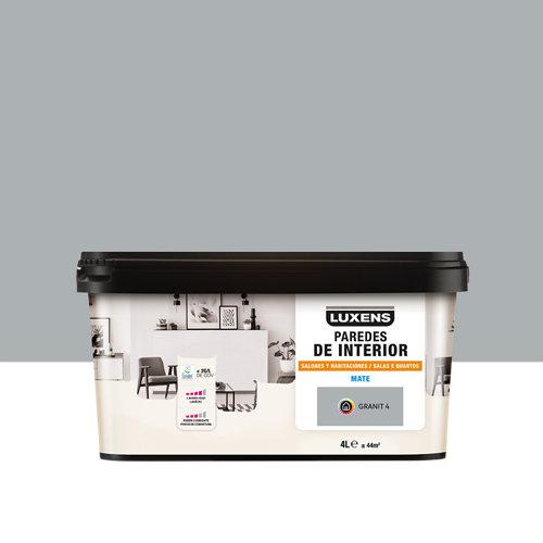 Pintura salones y habitaciones luxens 4l granit 4
