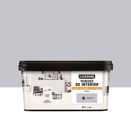 Pintura salones y habitaciones luxens 4l granit 5