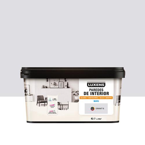 Pintura salones y habitaciones luxens 4l granit 6