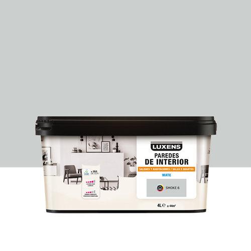 Pintura salones y habitaciones luxens 4l smoke 6