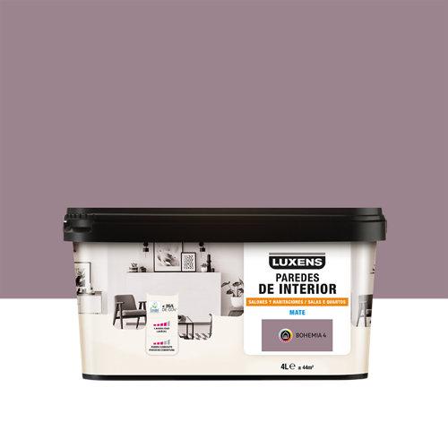 Pintura salones y habitaciones luxens 4l bohemia 4