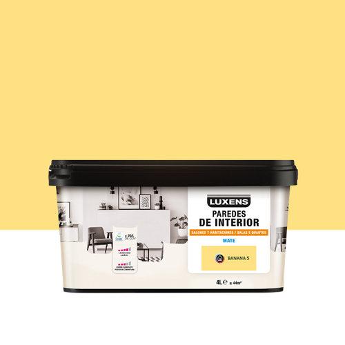Pintura salones y habitaciones luxens 4l banana 5