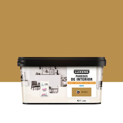 Pintura salones y habitaciones luxens 4l pecan 4