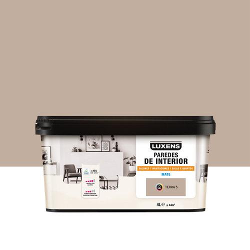 Pintura salones y habitaciones luxens 4l terra 5