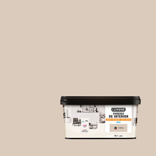 Pintura salones y habitaciones luxens 4l terra 6
