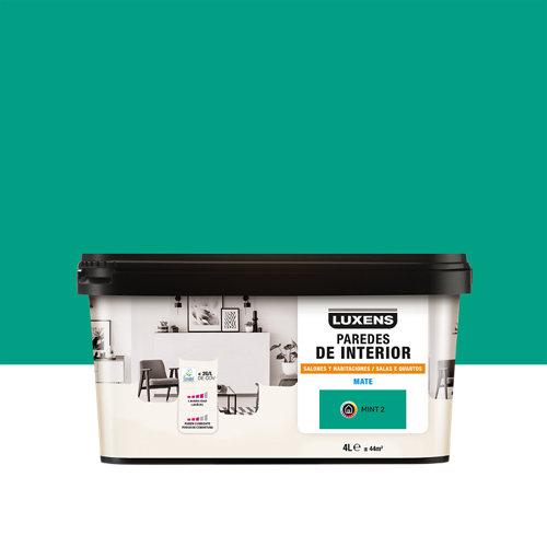 Pintura salones y habitaciones luxens 4l mint 2