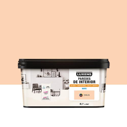 Pintura salones y habitaciones luxens 4l chili 6