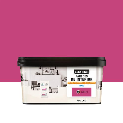 Pintura salones y habitaciones luxens 4l candy 3
