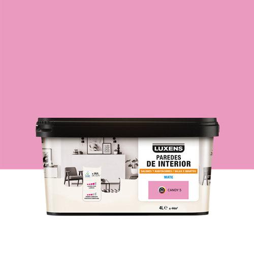 Pintura salones y habitaciones luxens 4l candy 5