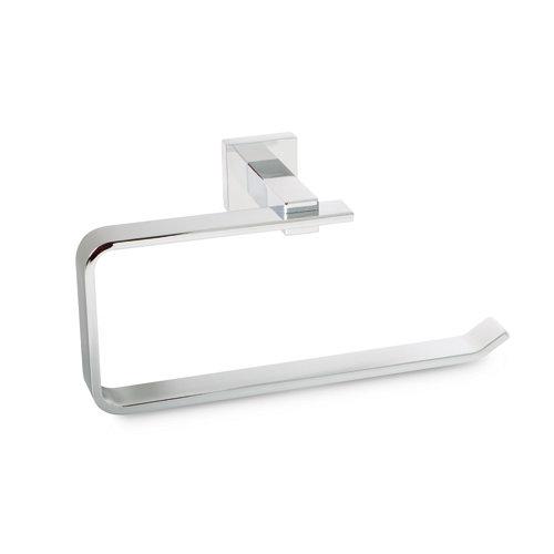 Toallero sienna gris / plata brillante 22x11 cm