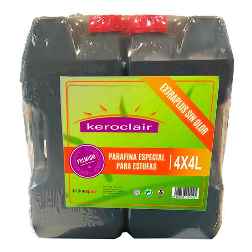 Pack de 4 bidones de parafina keroclair extraplus 4l