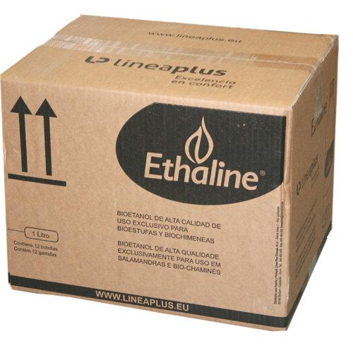 Pack de 12 bidones de bioetanol ethaline 1l