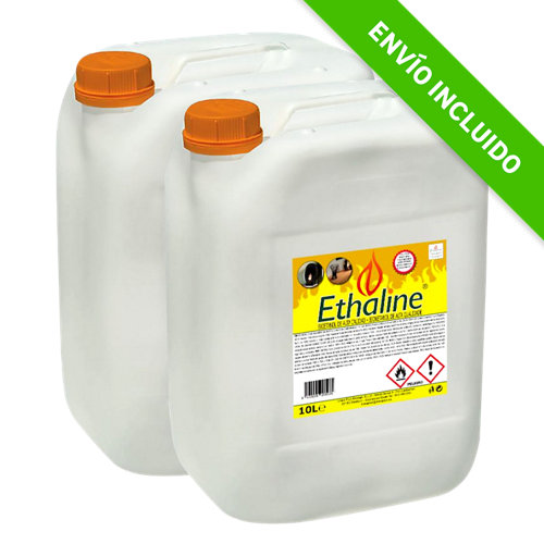 Pack de 2 bidones de bioetanol ethaline 10l