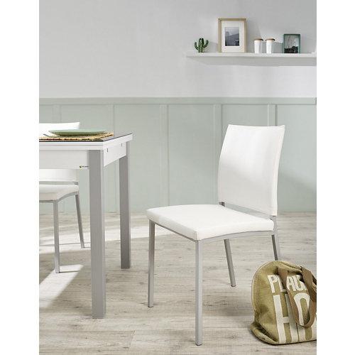Silla paki polipel blanco patas aluminio