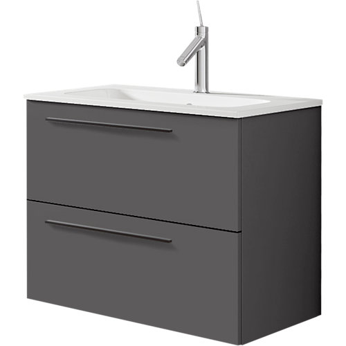 Mueble baño mia antracita 60 x 45 cm