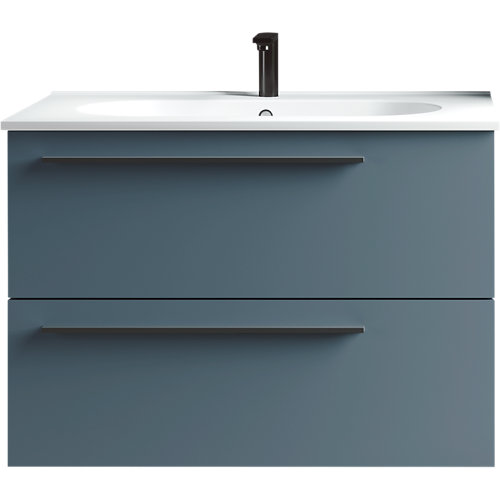 Mueble baño mia azul 80 x 45 cm