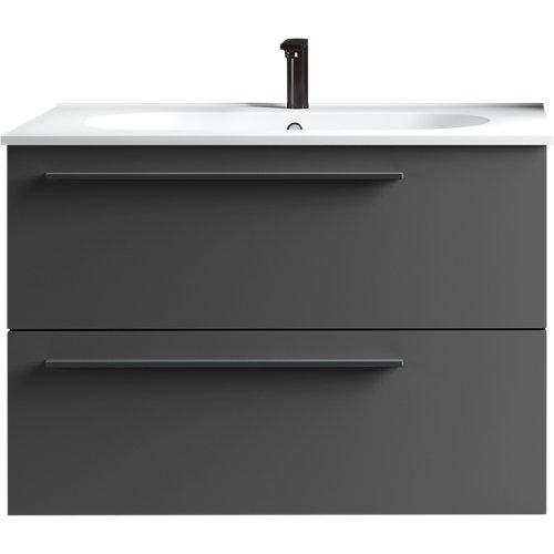 Mueble baño mia antracita 80 x 45 cm