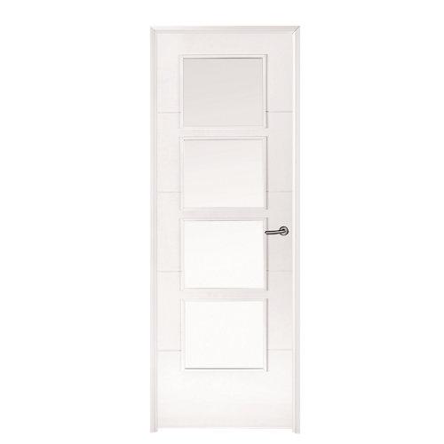 Conjunto puerta con crital lucerna 82,5 cm izquierda + tapeta