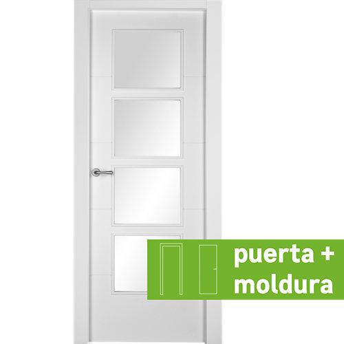 Conjunto puerta con crital lucerna 82,5 cm derecha + tapeta