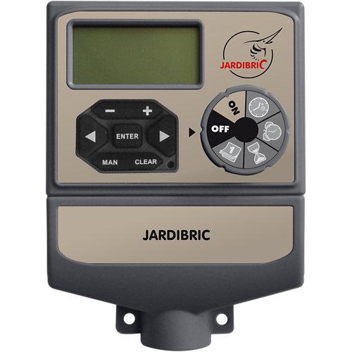 Programador para electroválvulas 9v hasta 4 zonas, instalación en interior.