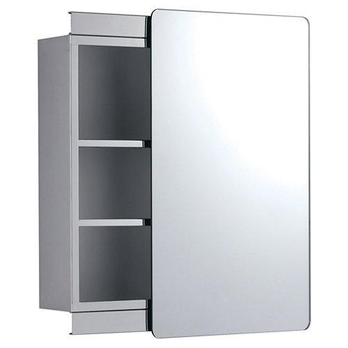 Armario de baño con espejo kora cromo 46x12x66 cm
