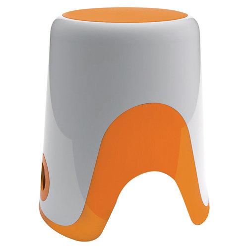 Taburete wendy blanco-naranja 35 cm