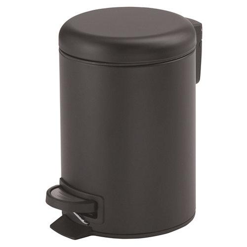 Papelera de baño potty negro 3 l