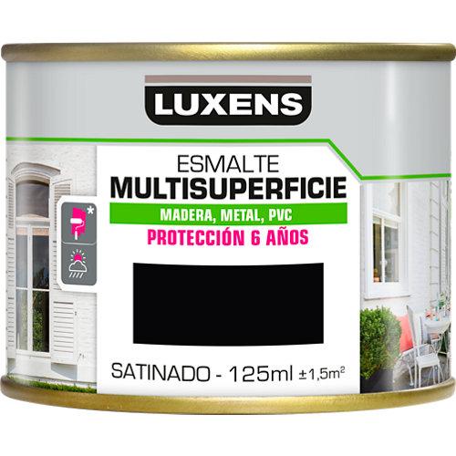 Pintura multisuperficie satinado al agua luxens 125 ml black