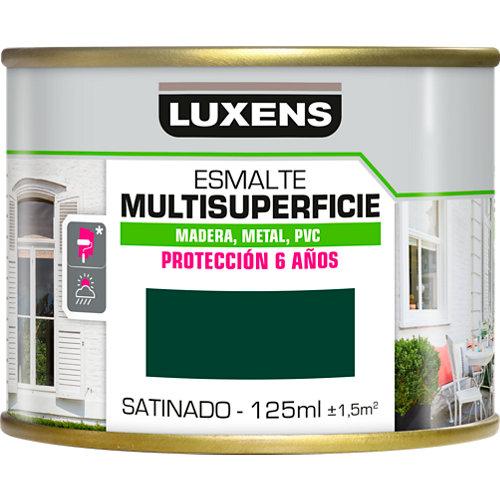 Pintura multisuperficie satinado al agua luxens 125 ml moss green
