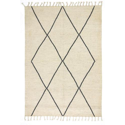 Alfombra color blanco lana bereber deby 170 x 240cm