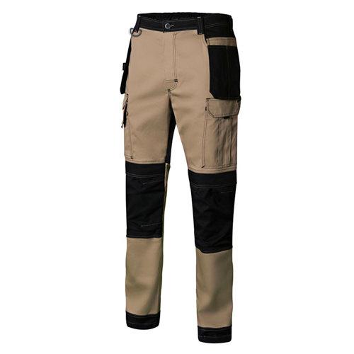 Pantalon canvas stretch beig t l