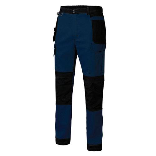 Pantalon canvas stretch azul t m