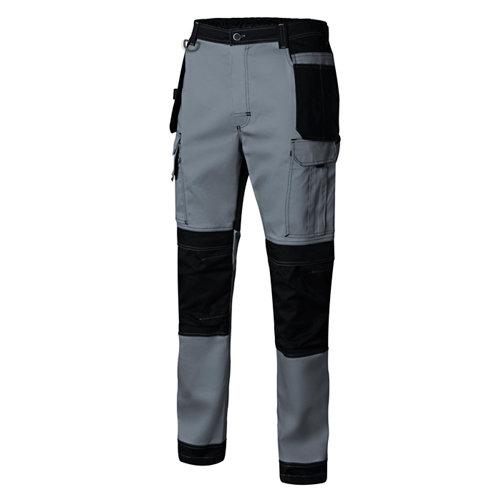 Pantalon canvas stretch gris t l