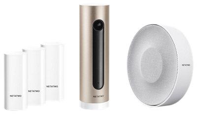 Pack de cámara de vigilancia NETATMO Welcome + sensores + sirena