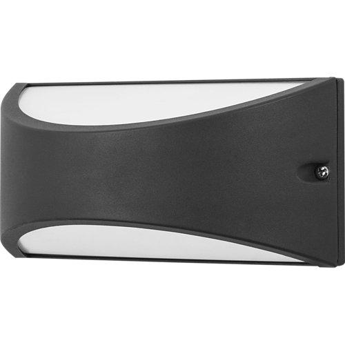 Aplique de exterior de aluminio gris forlight kapa modulo led