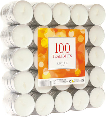Pack 100 velas blancos 1.28 g