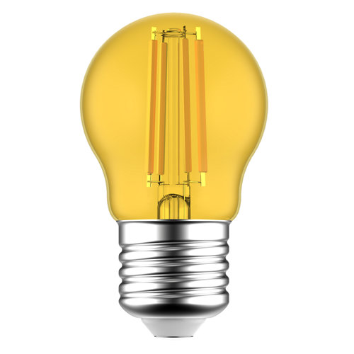 Bombilla led filamentos e27 4,5w amarillo lexman