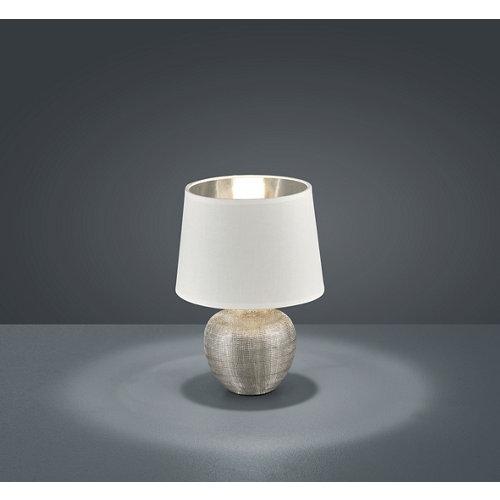 Sobremesa reality luxor altura 26 cm plateado y blanco