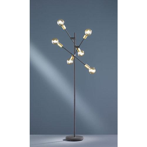 Lámpara de pie trio cross negro mate