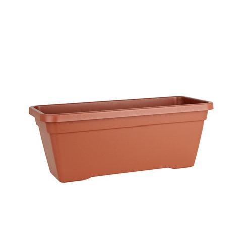 Lote jardinera y plato l venezia terracota 60 cm