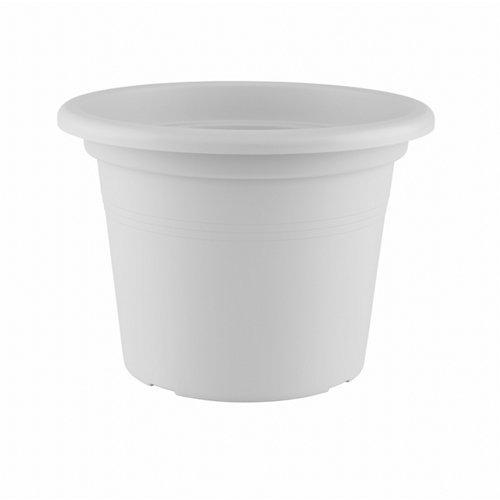 Lote maceta redonda y plato venezia blanco 30 cm