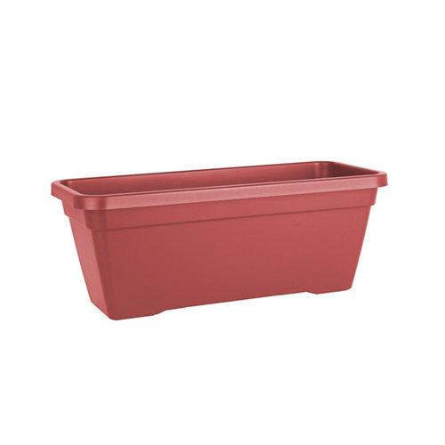 Lote jardinera y plato l venezia rojo 80 cm