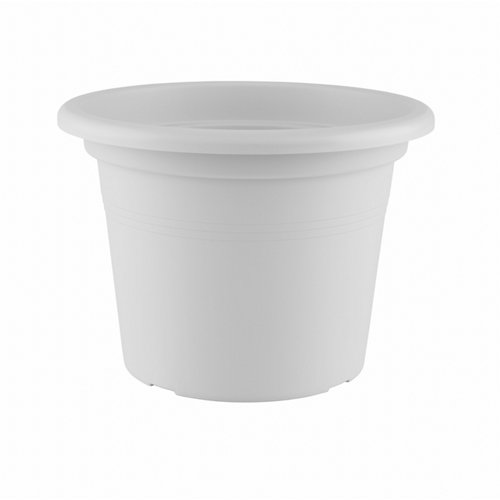 Lote maceta redonda y plato venezia blanco 45 cm