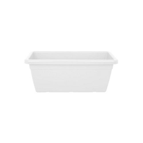 Lote jardinera y plato xl venezia blanco 100 cm