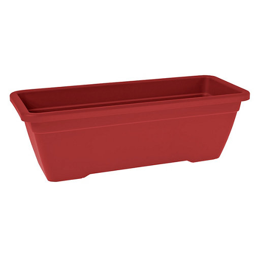 Lote jardinera y plato venezia rojo 60 cm