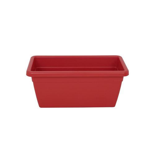 Lote jardinera y plato xl venezia rojo 80 cm