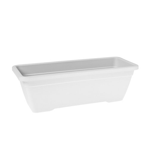 Lote jardinera y plato venezia blanco 60 cm