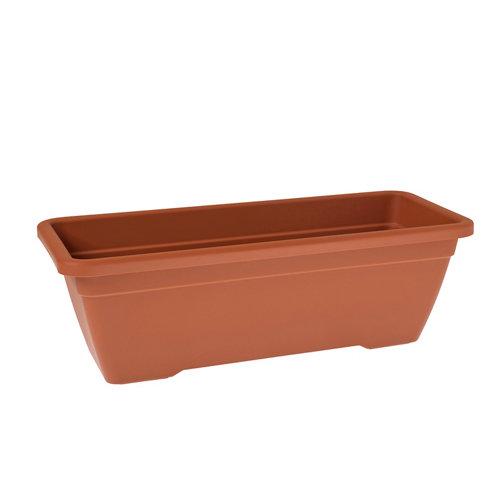 Lote jardinera y plato venezia terracota 80 cm